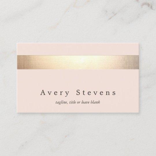 Elegant gold striped no shine modern light pink business card elegant gold striped no shine modern light pink business card colourmoves
