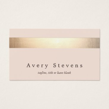 sm_business_cards Elegant Gold Striped (no shine) Modern  Light Pink Business Card