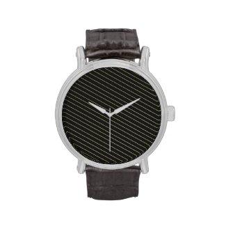 Elegant Gold Stripes Watch