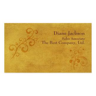 Elegant Gold Swirls Customizable Template Business Cards