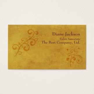 Elegant Gold Swirls Customizable Template Business Card