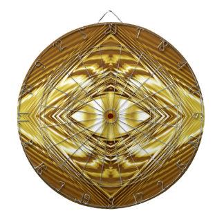 Elegant gold symmetry dart board