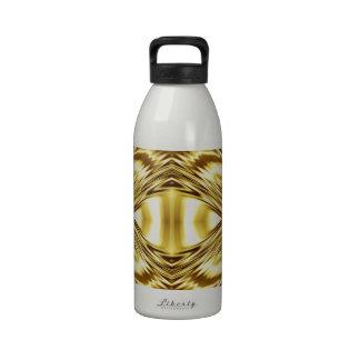 Elegant gold symmetry reusable water bottles