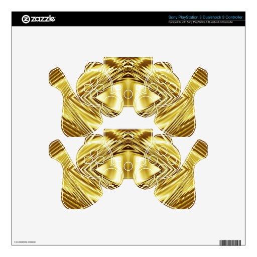 Elegant gold symmetry skin for PS3 controller