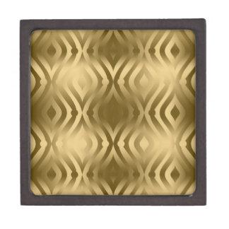 Elegant Gold Teardrops Modern Geometric Pattern Premium Gift Boxes