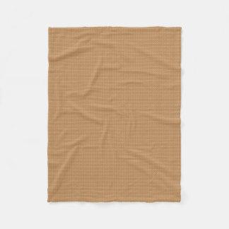 Elegant Gold Tone Effect Geometric Fleece Blanket