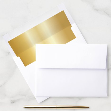 Elegant Gold Tone Wedding | Anniversary Envelope Liner