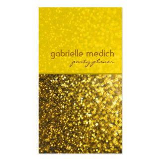 Elegant Gold Tones Glitter Pattern Double-Sided Standard Business Cards (Pack Of 100)