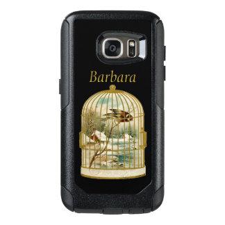 Elegant gold Victorian Bird Cage Snow Cabin OtterBox Samsung Galaxy S7 Case