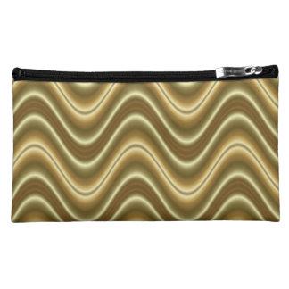 Elegant Gold Wave pattern Cosmetic Bag