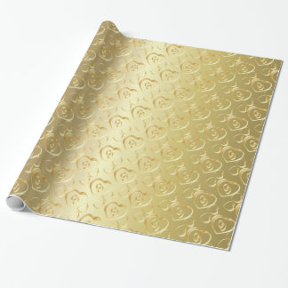 Elegant Gold Wedding Bands Wrapping Paper