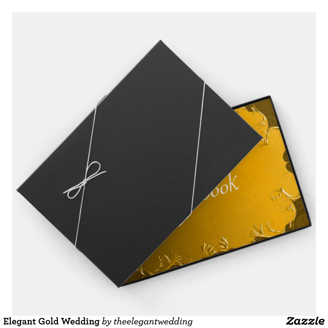 Elegant Gold Wedding Guest Book