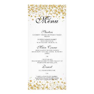 Elegant gold Wedding Menu