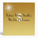 Elegant Gold Wedding Planner 3 Ring Binder