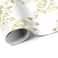 Elegant Gold Wedding Rings Wrapping Paper