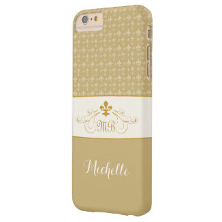 Elegant Gold White Fleur de Lis iPhone 6 Plus Case