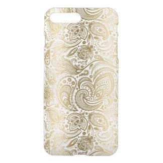 Elegant Gold & White Floral Paisley iPhone 7 Plus Case