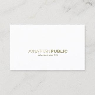 Elegant Gold White Simple Plain Modern Creative Business Card