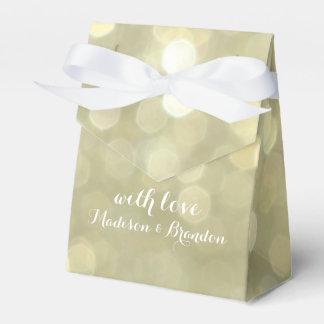 Elegant Gold & White Sparkle Gift Box