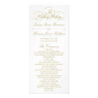 Elegant Gold & White Wedding Program Template