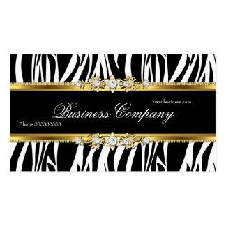 Elegant Gold Zebra Black White Silver ORNATE Business Card Templates
