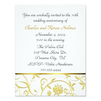 Elegant  Golden Anniversary Invitation