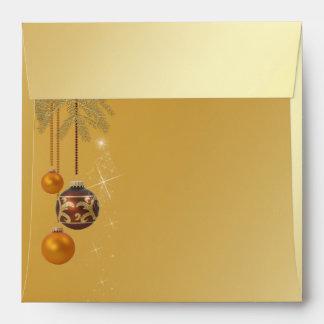 Elegant Golden Christmas - Envelope square
