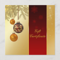 Elegant Golden Christmas - Gift Certificate