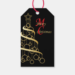 Elegant Golden Christmas Gift Tags