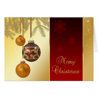 Elegant Golden Christmas - Greeting Card