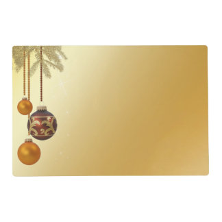 Elegant Golden Christmas - Laminated Placemat