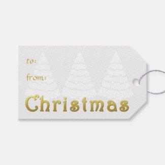 Elegant Golden Christmas Pack Of Gift Tags