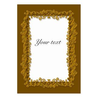Elegant Golden Christmas Tag Business Cards