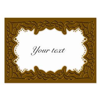 Elegant Golden Christmas Tag Business Card Templates