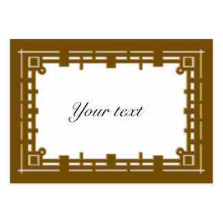 Elegant Golden Christmas Tag Business Card Template