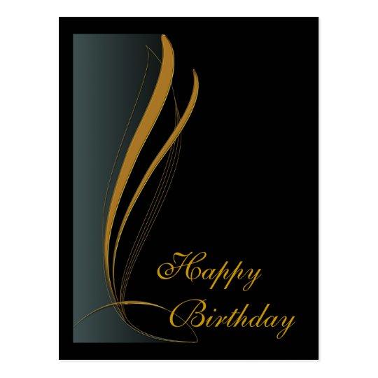 Elegant Golden Design Postcard