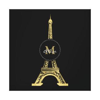 Elegant Golden Eiffel Tower | Best Gifts Canvas Print