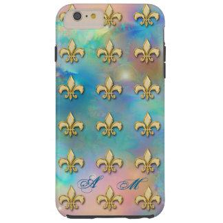 Elegant Golden Fleur-de-lis iPhone 6 Plus Monogram Tough iPhone 6 Plus Case