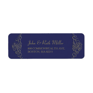 Elegant Golden Frame -2- Return Address Labels