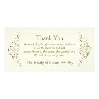 Elegant Golden Frame Sympathy Thank You Card