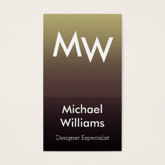 ELEGANT GOLDEN METAL SIMPLE LUXURY FRESH PERFUME BUSINESS CARD