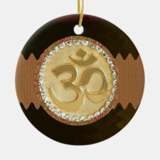 Elegant Golden OM MANTRA Chant Display Holy Symbol Christmas Ornament