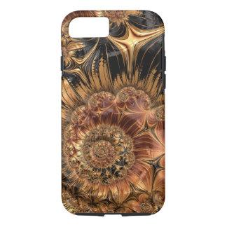 Elegant Golden Orange Cream Liquid Silk Fractal iPhone 8/7 Case