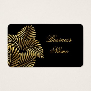 Professional Business Elegant Golden Palm Gold Black Business Card