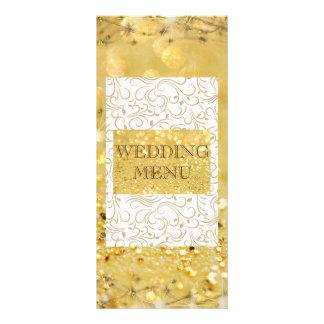 Elegant Golden Personalised Wedding Menu