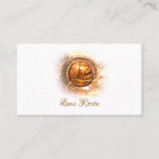 Elegant Golden Rose Business Card