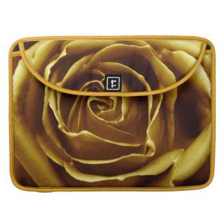 Elegant Golden Rose Sleeves For MacBook Pro