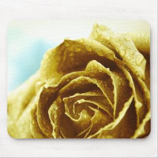 Elegant Golden Rose Mouse Pad