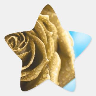Elegant Golden Rose Star Sticker