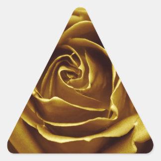 Elegant Golden Rose Triangle Sticker
